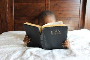 child, reading, bible